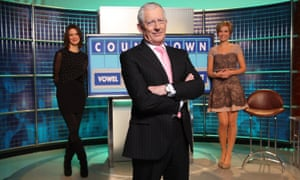 Nick Hewer with Rachel Riley (right) and Susie Dent (left).
