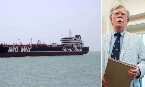 British-flagged Stena Impero has been held by Iran which is a constant target of US national security adviser John Bolton.