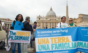 Yeb Sano, second from right, in St Peter's Square, Rome