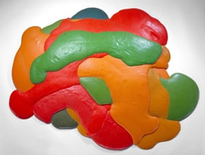 Night Sherbet, 1968, a sculpture made of poured polyurethane foam.