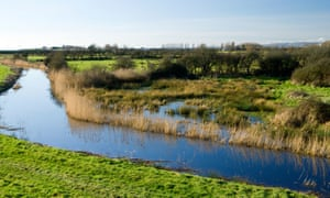 The Gwent Levels between Caldicot and Newport, south Wales.