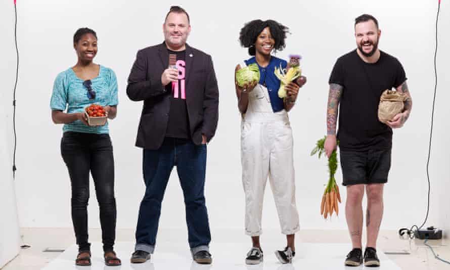 A cut above: (from left) Diana Pinkett, Sean O'Callaghan, Denai Moore, Joseph Sheridan-Ruddy.