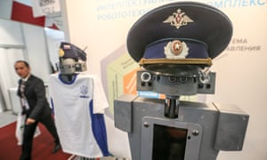 Radio robots displayed at Mivar's stand at the opening of the Army-2016 international military-technical forum at the Patriot Expocentre in Russia