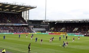 Burnley v Everton at Turf Moor.