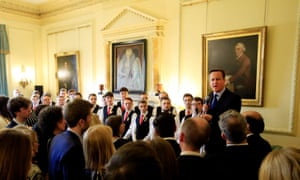 David Cameron speaking at a St David's Day reception in Number 10