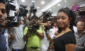 Tanushree Dutta in 2008, before she left India.