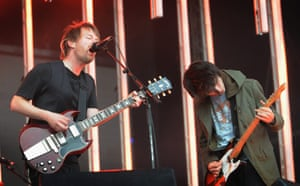 Thom Yorke and Jonny Greenwood of Radiohead.