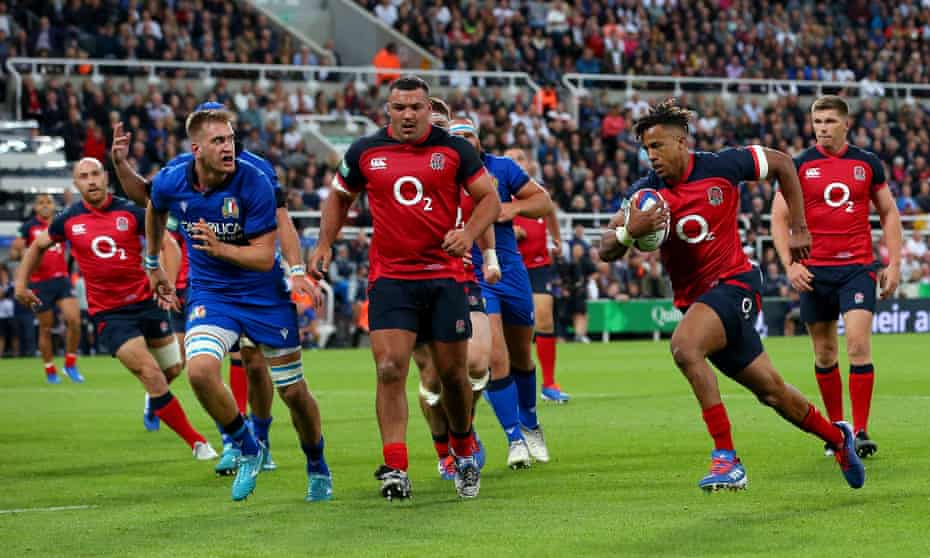 Anthony Watson scores England's fourth and final try