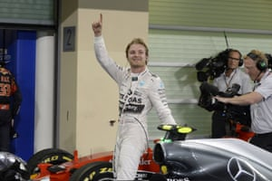Rosberg celebrates his win.