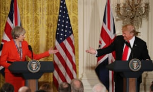 Theresa May and Donald Trump, January 2017