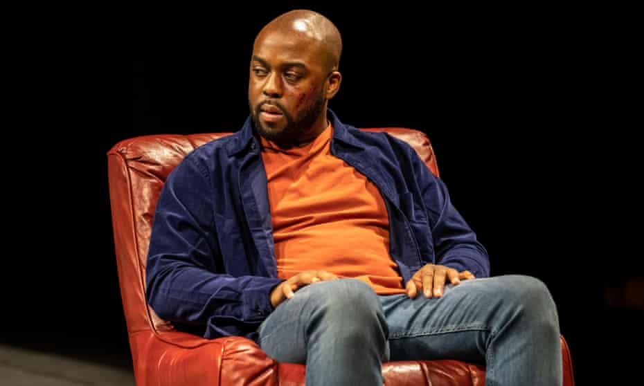 Unresolved business … Ken Nwosu as Leo in Suzan-Lori Parks' White Noise at the Bridge theatre, London.