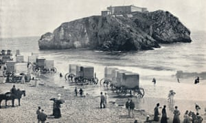 Tenby in 1895 … sea-bathing, an upper-class health fad, inspired the first seaside resorts.