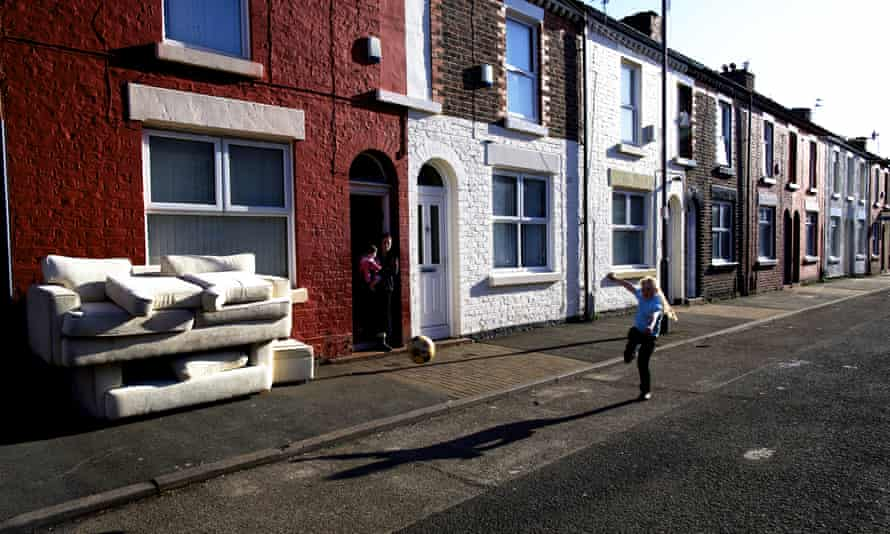 A street in Toxteth, Liverpool. The city contains five of the 20 most deprived areas in England.