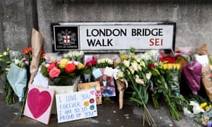 Floral tributes to the victims of the London Bridge terror attack. Credit: Photo by James Veysey/Rex/Shutterstock