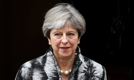 Theresa May leaves Downing Street on her way to 1922 Committee meeting.