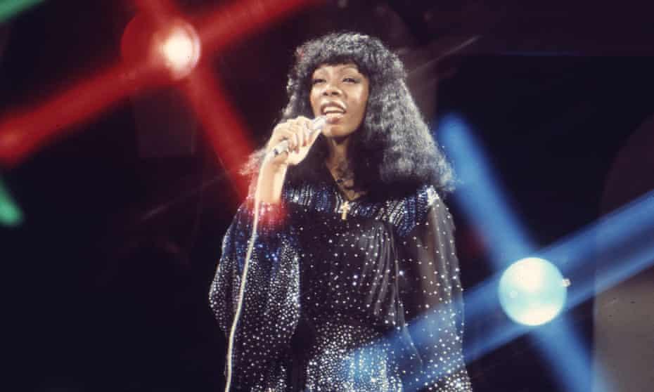 Donna Summer singing in 1974.