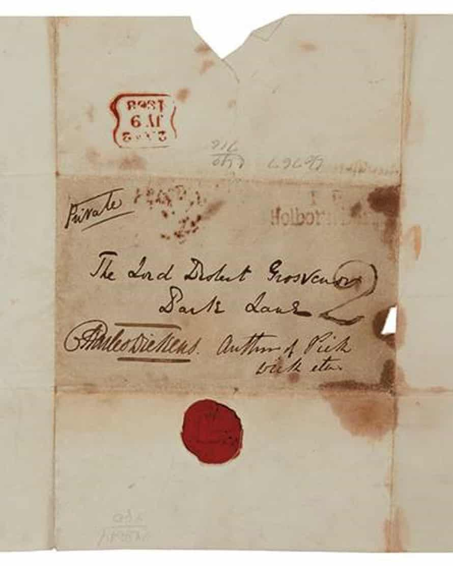The letter on sale in New York is signed and addressed in the author's hand and carries a red wax seal with the Dickens family crest.