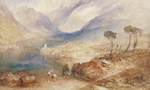 Llanberis Lake and Snowdon by JMW Turner