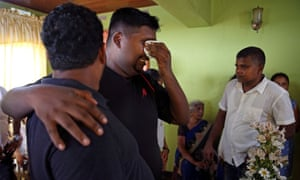 Friends and relatives mourn for Mary Noman Shanthi, 58, and Rohan Marselas Wimanna, 59, who died as bomb blasts ripped through churches and luxury hotels on Easter, in Negombo, Sri Lanka April 22, 2019.