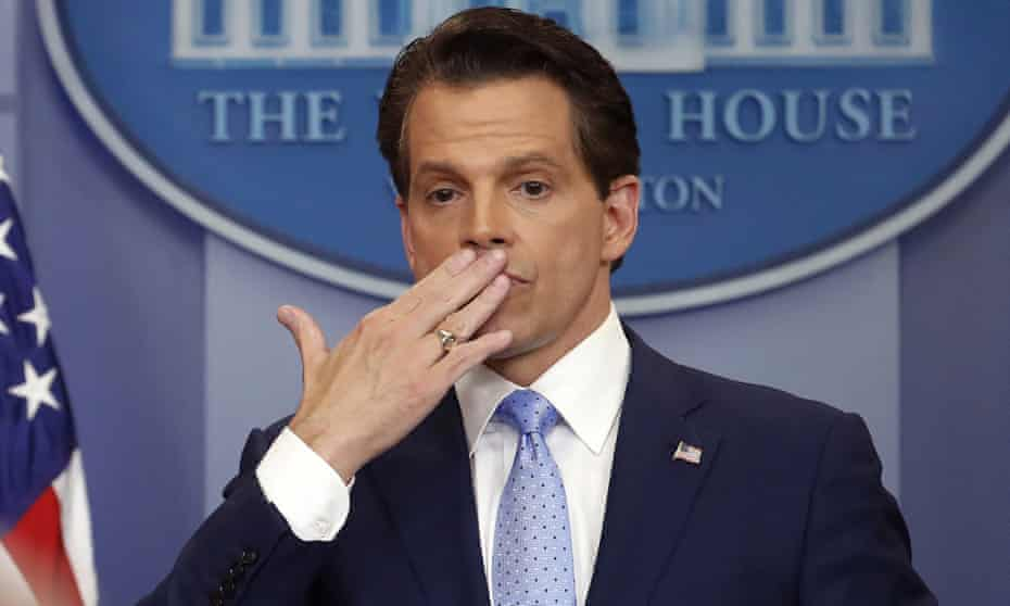 Anthony Scaramucci raised his hand to his lips and air-kissed the press corps after he finished taking questions Friday.