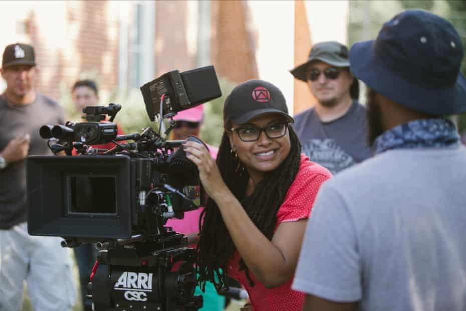 Ava DuVernay on the set of Selma
