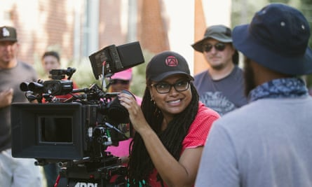 Ava Duvernay on the set of Selma in 2014.