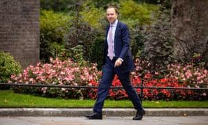 Matt Hancock arriving at Downing Street on Friday.