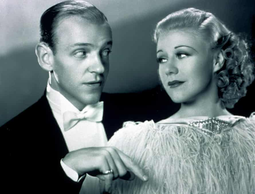 Fred Astaire and Ginger Rogers in Top Hat.
