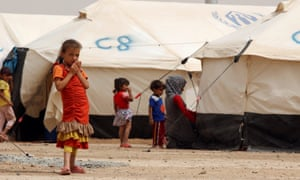Children and tents
