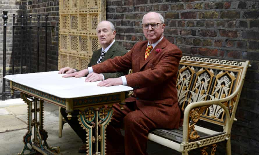 Gilbert and George in their home in London.