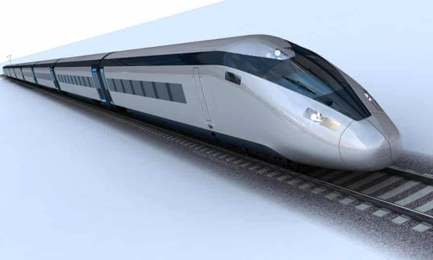 A picture of a potential HS2 train design issued last year