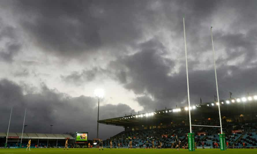 Exeter Chiefs and Glasgow Warriors during Sunday's Champions Cup game