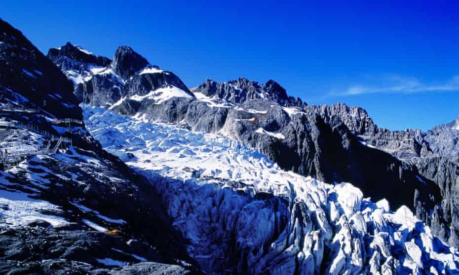 The Mingyong glacier at the foot of Khawa Karpo.