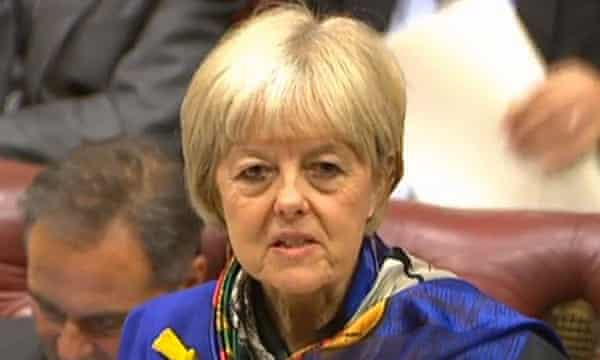 Lady Hayter, who was sacked on Wednesday after accusing Jeremy Corbyn of having a bunker mentality.
