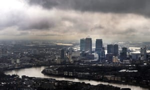 Storm clouds over Canary Wharf
