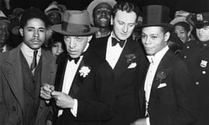 Jimmie Daniels, right, with Kenneth Macpherson and Lloyd Thomas at the opening of Macbeth.