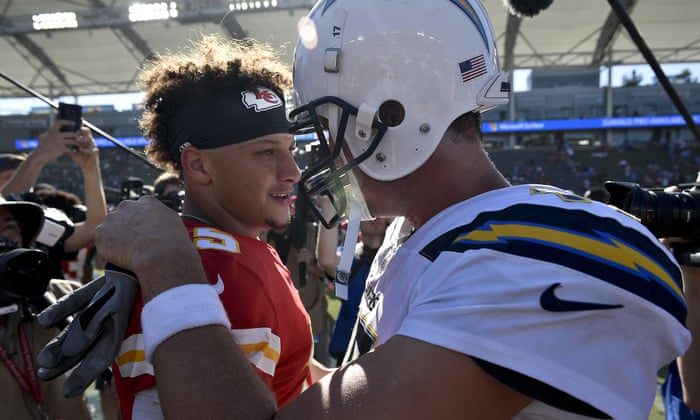 46c9065bb Sam Darnold impresses with Jets, but Patrick Mahomes could transform NFL |  Sport | The Guardian