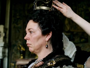Olivia Colman as Queen Anne in The Favourite.