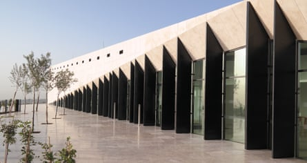An exterior view of the Palestine Museum in Ramallah, Palestine