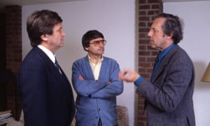 Melvyn Bragg, David Lodge and Malcolm Bradbury on The South Bank Show in 1991.