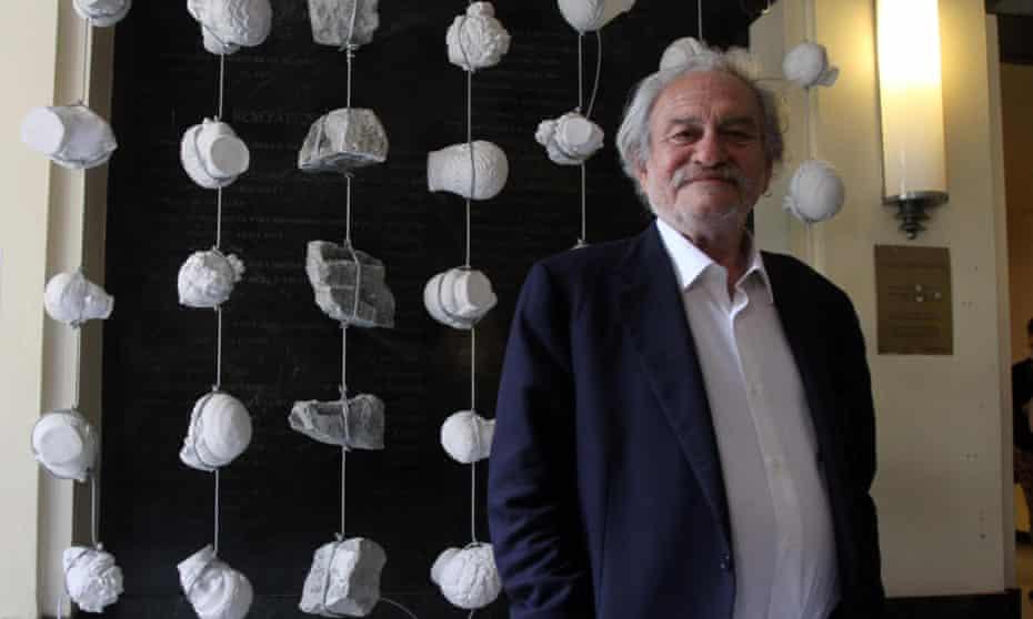 Startling juxtapositions: Jannis Kounellis in Milan, Italy, 2014.