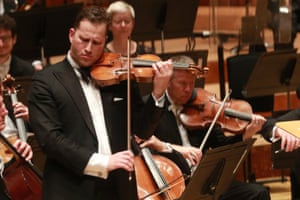 Violinist Nikolaj Znaider with the LSO at the Barbican, London