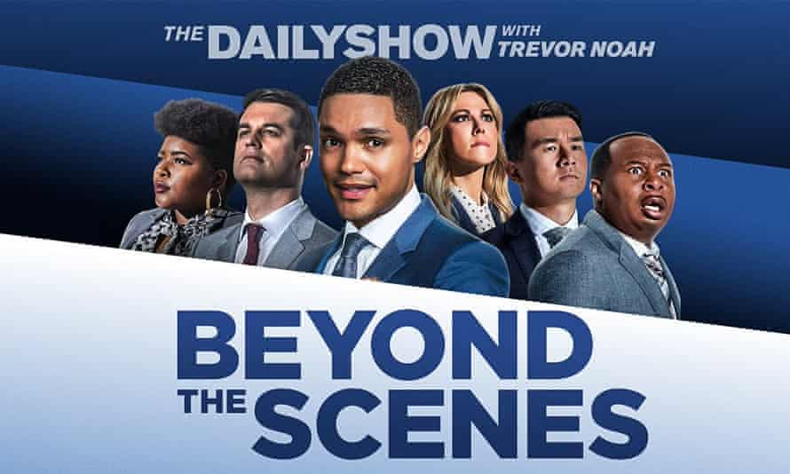 Roy Wood Jr (right) and the Daily Show team