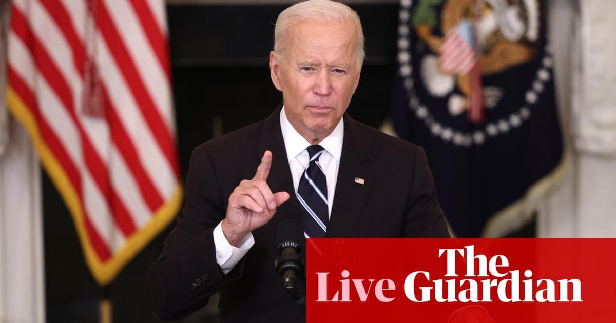 Biden tells Republicans threatening to sue over vaccine mandate: 'Have at it' – live