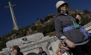 Tourists visit the Valley of the Fallen mausoleum, where Francisco Franco is buried, on 24 September.