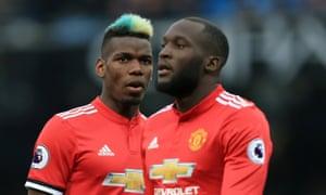 The Manchester United pair Paul Pogba and Romelu Lukaku