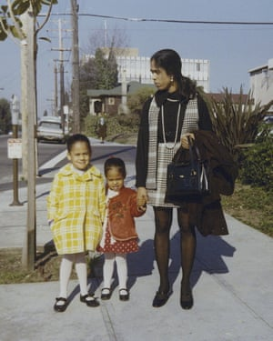 Kamala Harris, left, with her sister, Maya, and mother, Shyamala, in 1970.