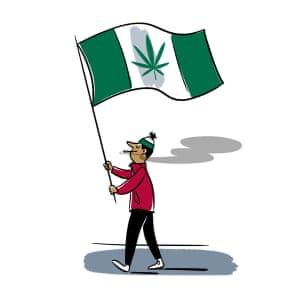 Illustration of a Canadian stoner