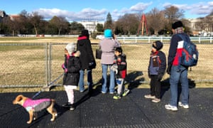 Tourists and visitors are unable to visit the National Christmas Tree near the White House due to the partial government shutdown.