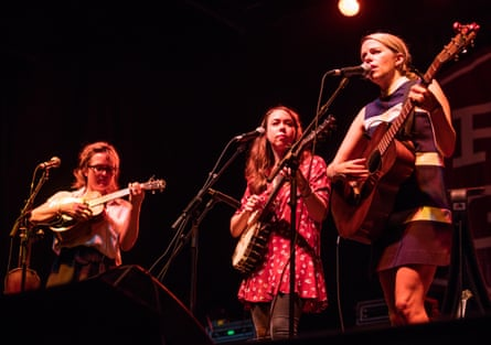 Watkins, Jarosz and O'Donovan playing the FreshGrass festival in Massachusetts, 2015